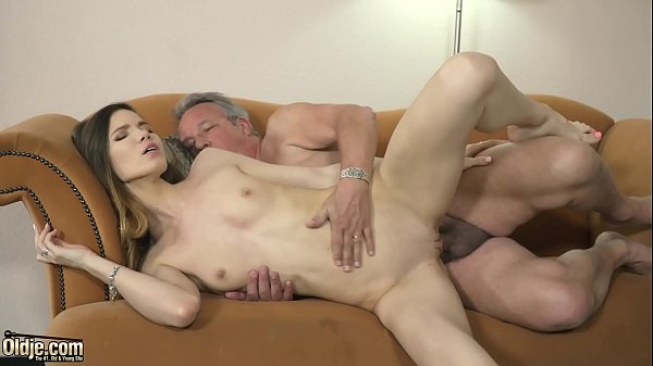 Grandpa fucks youthful nymph hard-core w orgasm cunt penetrating and mouth popshot